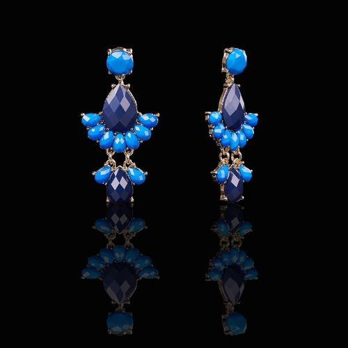 Sophisticated Cerul Fen Drop Earrings  $15.00 from  $24.00 Wear sparkling tiers of blue, each one more comely than the last, when you choose these sophisticated earrings.