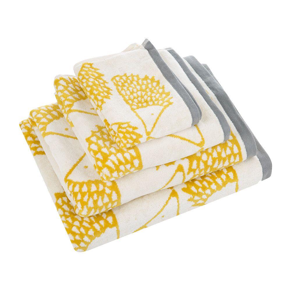 Buy Scion Spike Towel Mustard Bath Towel Amara Bath Towels Luxury Mustard Bath Towel