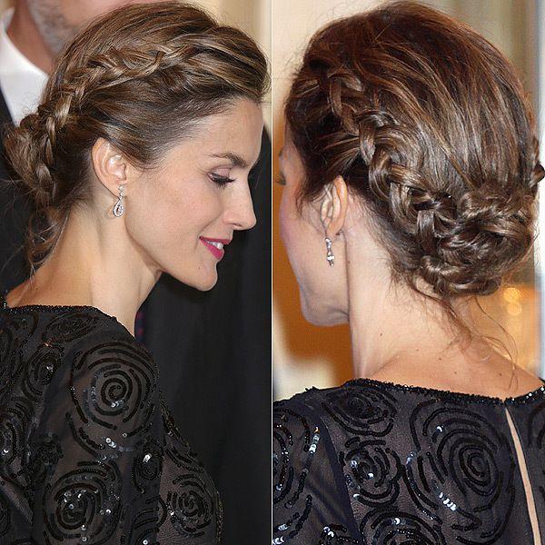 Queen Letizia Channels Olivia Palermos Milkmaid Braid Milkmaid - Diy hairstyle knotted milkmaid braid