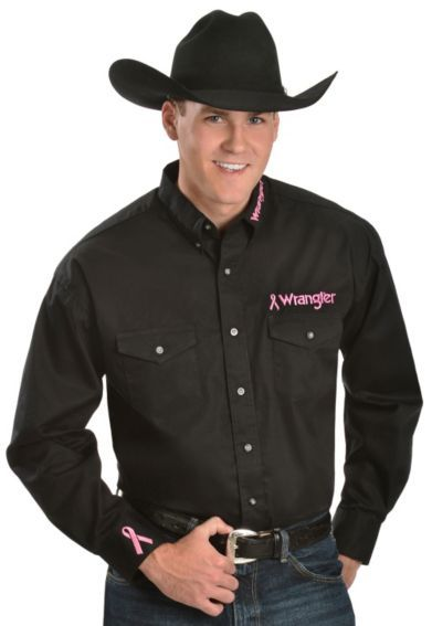 7d76fd814 Wrangler Logo Tough Enough To Wear Pink Shirt - Sheplers Western Outfits