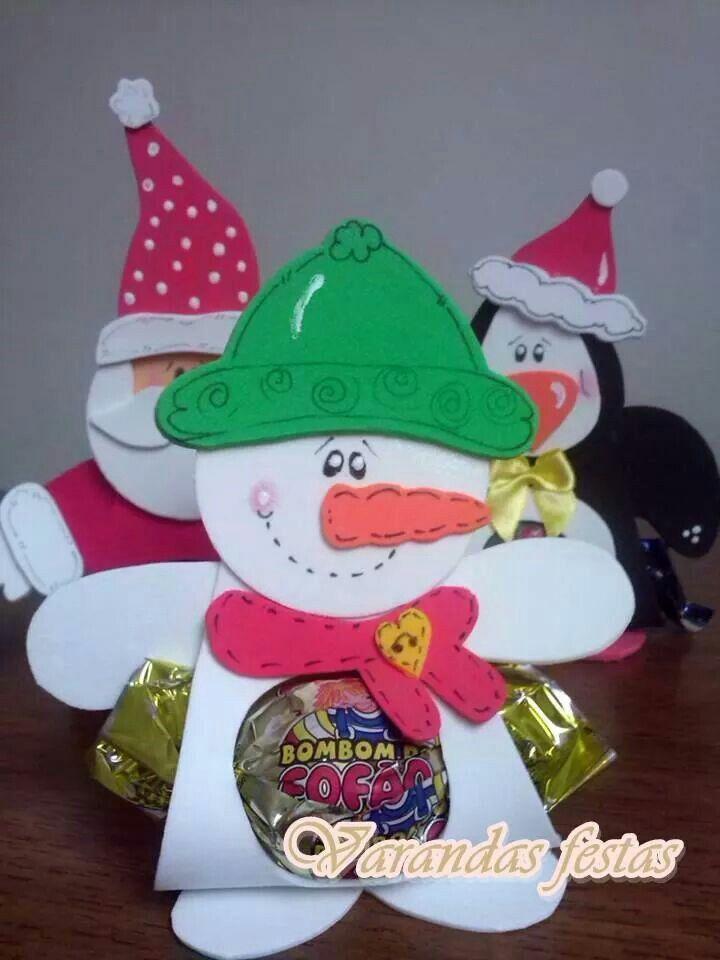 Porta bombom boneco de neve adornos navide os for Navidad adornos manualidades navidenas