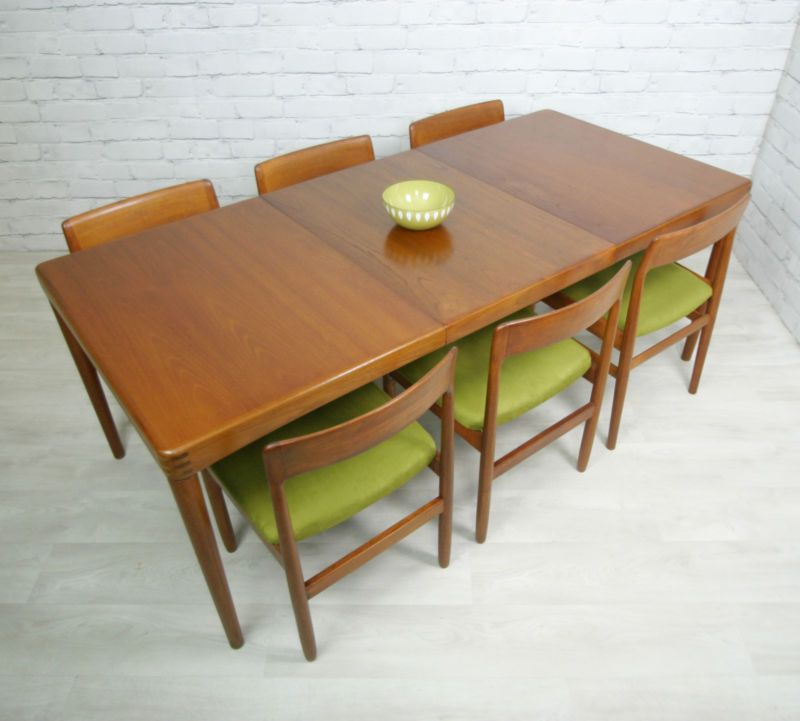 DANISH TEAK RETRO VINTAGE MID CENTURY EXTENDING DINING TABLE 1950s 60s