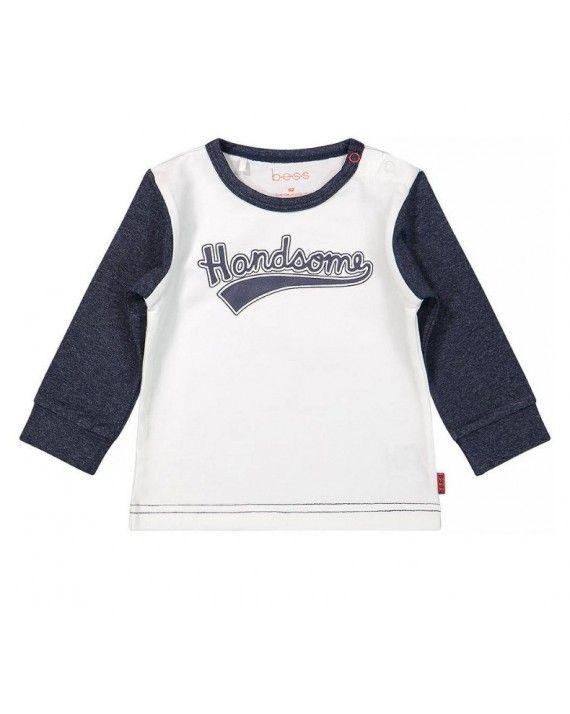 Babykleding Print.B E S S Baby Newborn Bess Jongens Shirt Handsome Blue Bc 1909 005