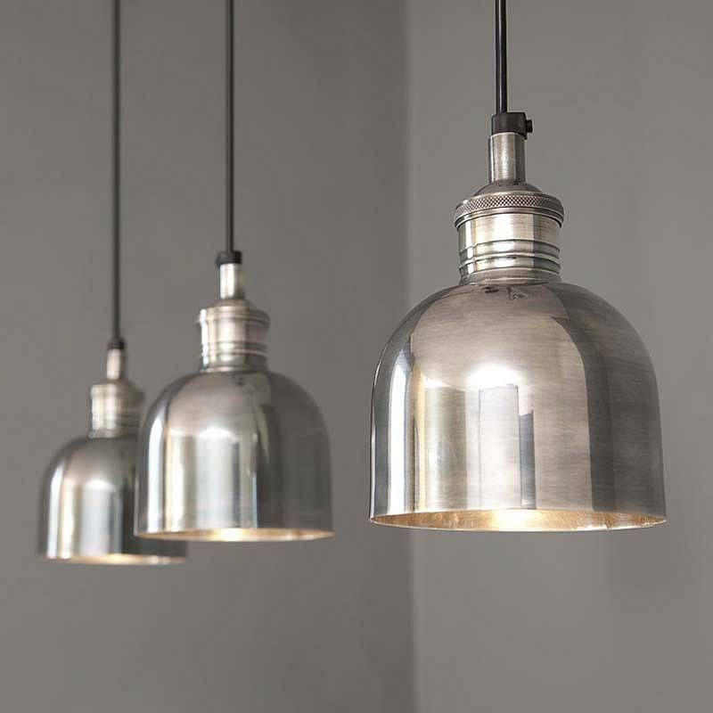Flori Tarnished Silver Pendant Light With Images Silver