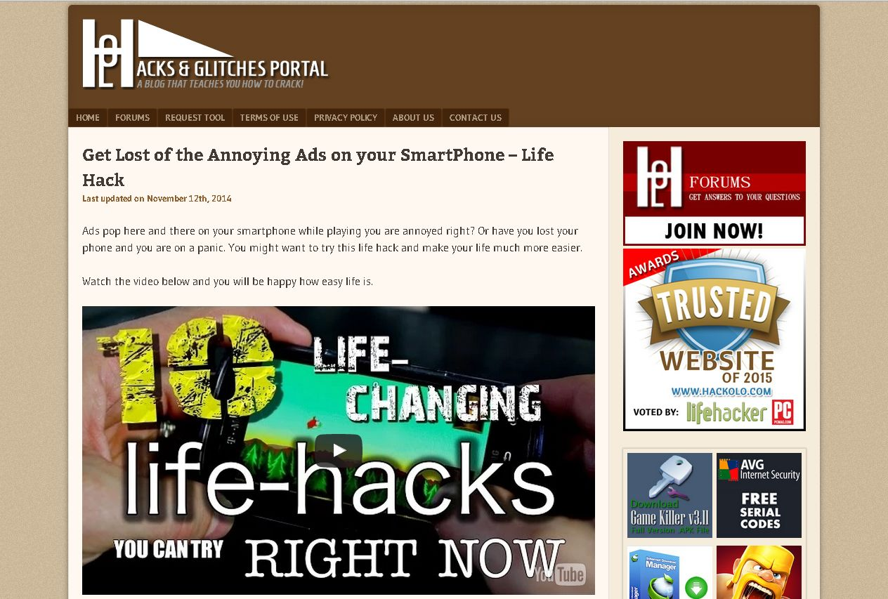 Get Lost the Annoying Ads on your SmartPhone Life Hack