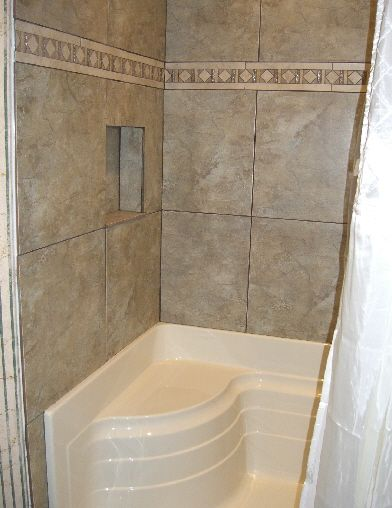 Porcelin Bathroom Remodels New Acryllic Shower Base With Built
