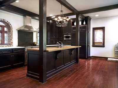 dark wood floor kitchen. 34 kitchens with dark wood floors
