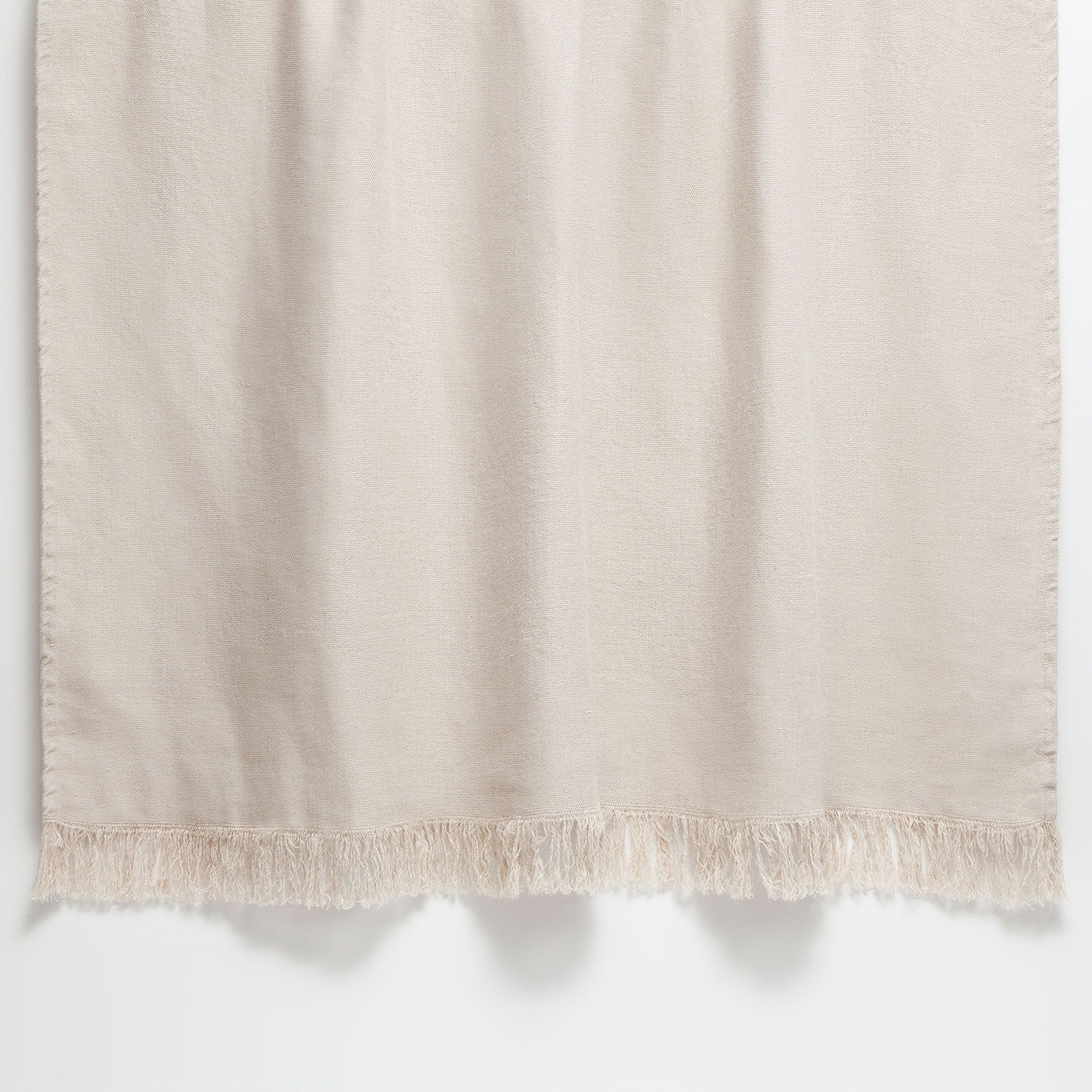 Natural colour fringed linen blanket - Blankets - Bedroom | Zara Home United Kingdom