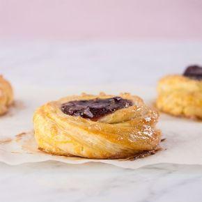 Flo's Danish, gluten free. With that fresh from the oven smell! Brought to you by Gluten Free Canteen. Delish!