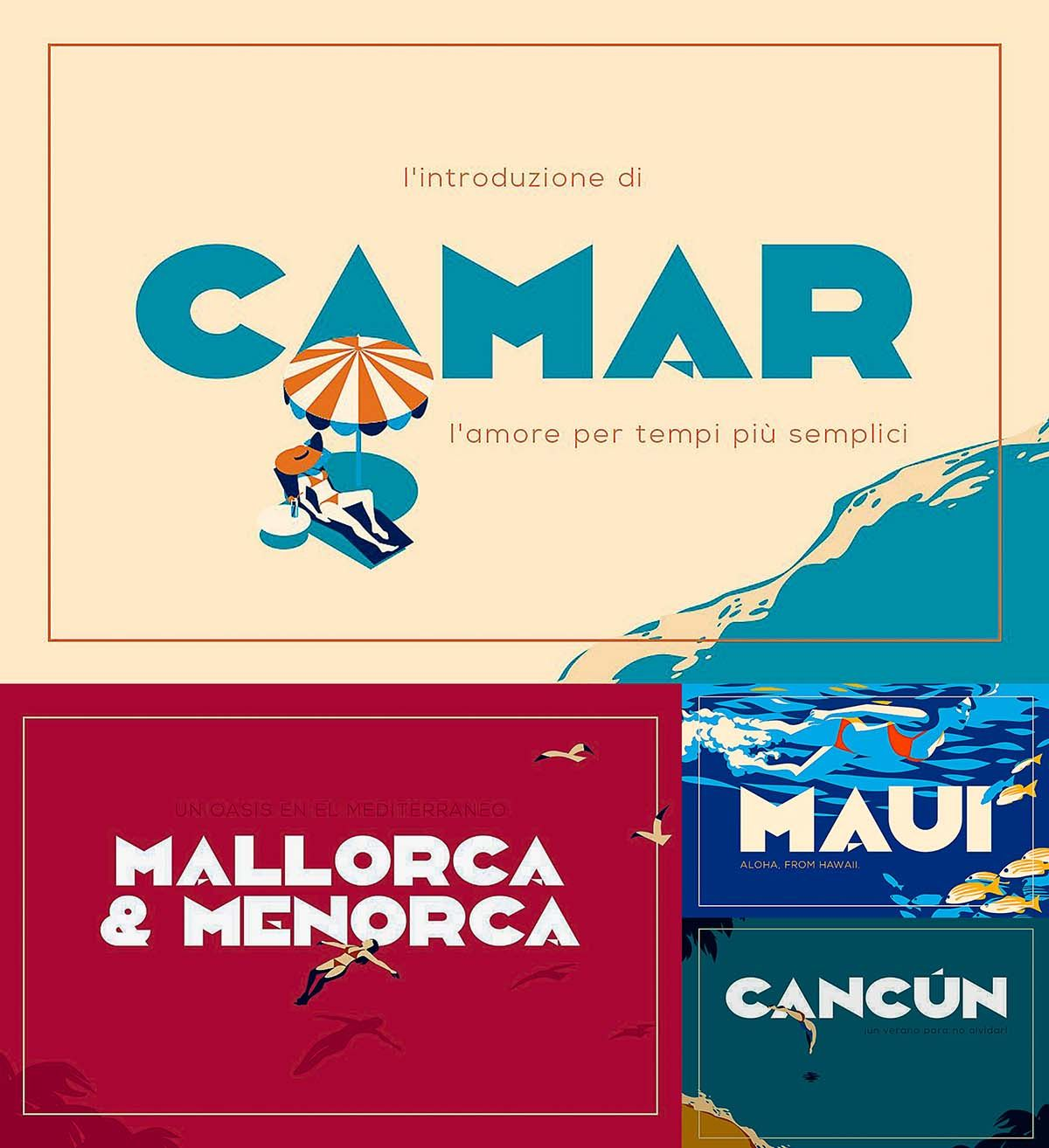 Camar Is A Bold, Clean And Simple All Caps Deco Style Inspired Display Font  That Is Perfect For Short Strong Words, The File Includes . Free For  Download.