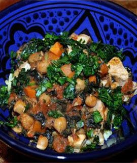 Moroccan Stew with chicken and chickpeas