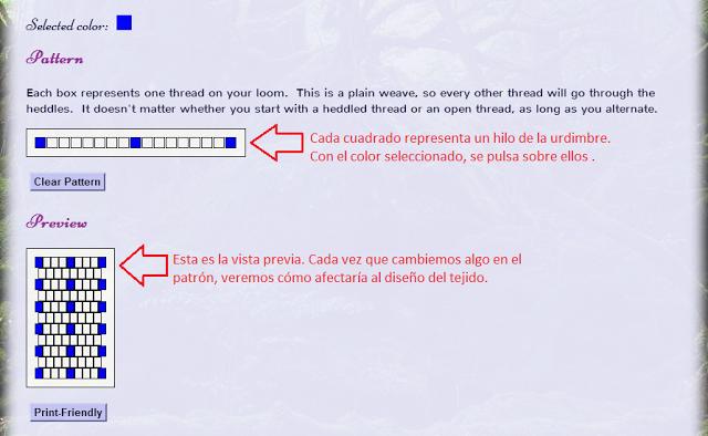 Telaradas: Tutorial para usar Inkle Loom Pattern Generator ...