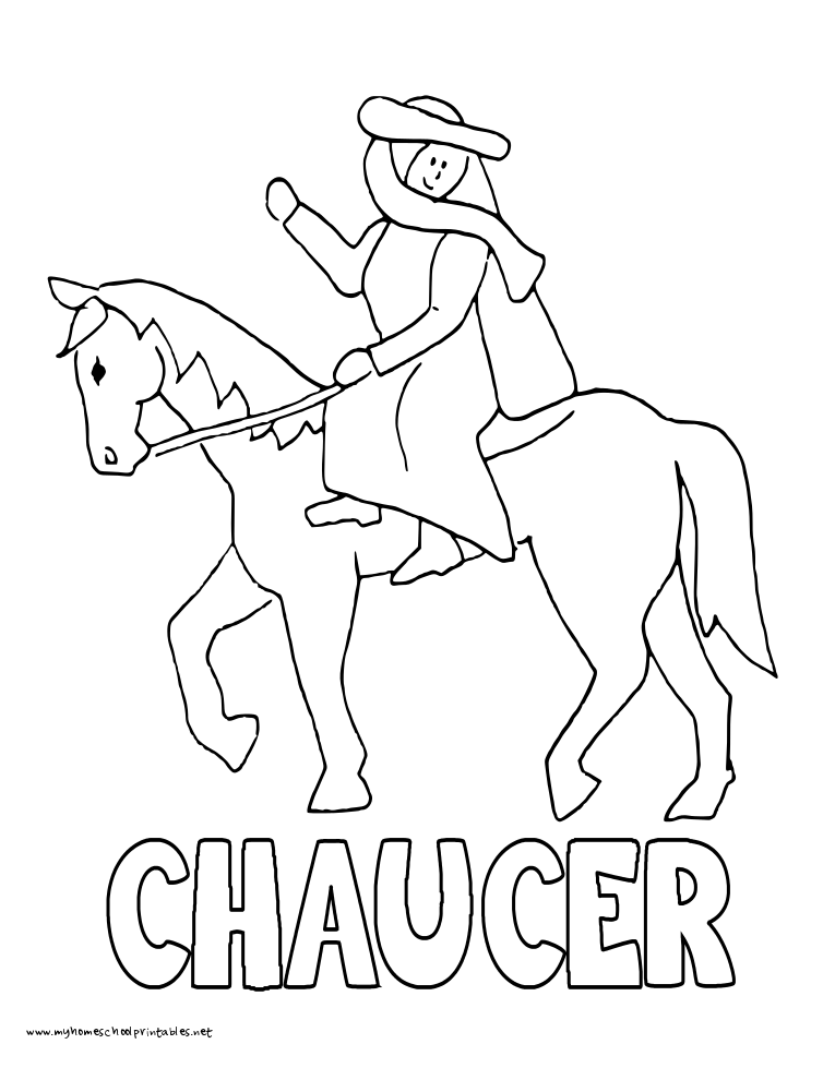 world history coloring pages printables chaucer and canterbury Wife of Bath Canterbury Tales canterbury tales coloring sheets
