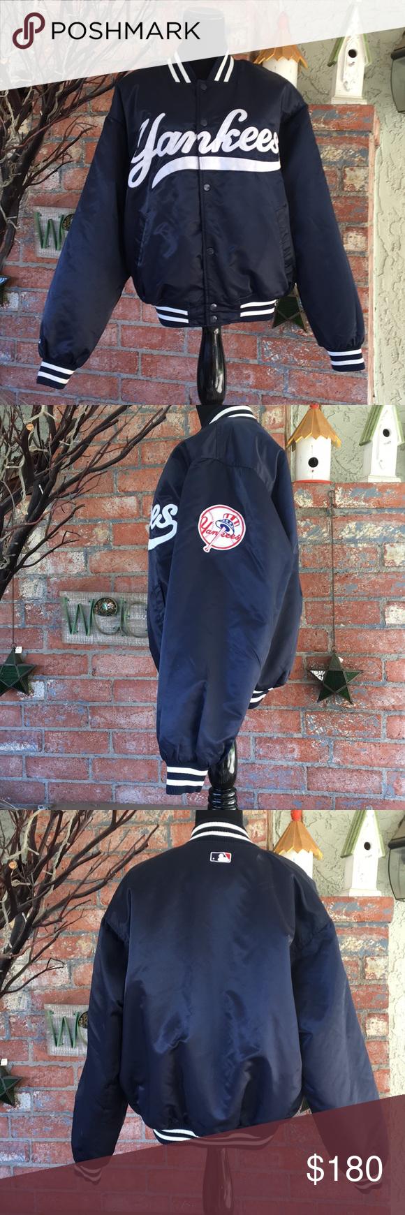 Rare Vintage Majestic Yankees Bomber Jacket Bomber Jacket Vintage Bomber Jacket Clothes Design