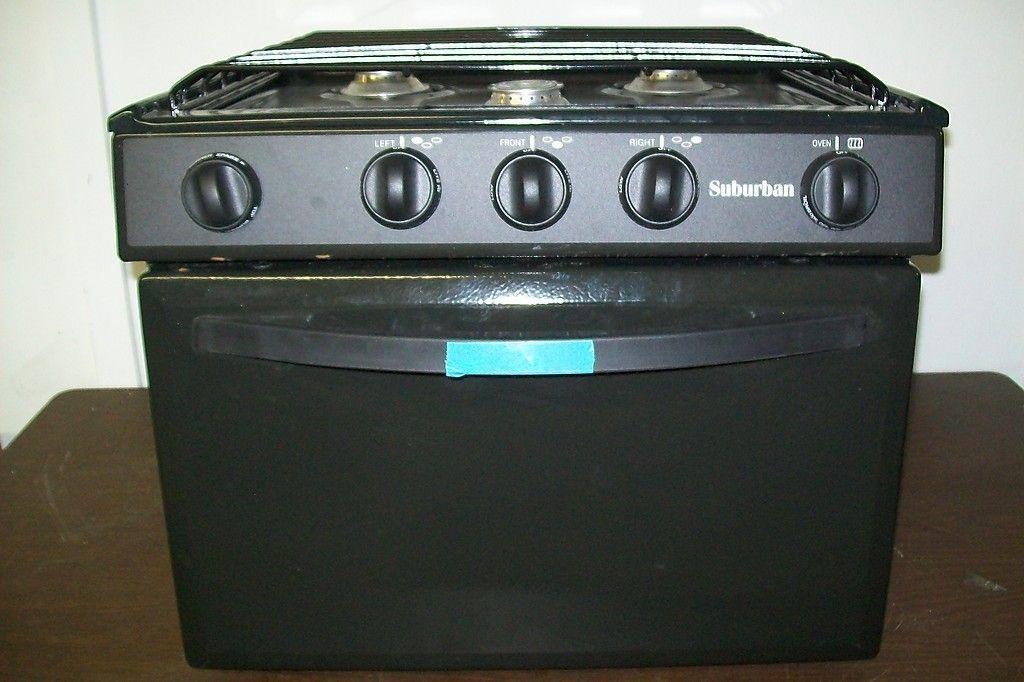 New 17 Suburban Rv 3 Burner Lp Gas Stove Oven Range Camper Srna3Sbbe Piezo