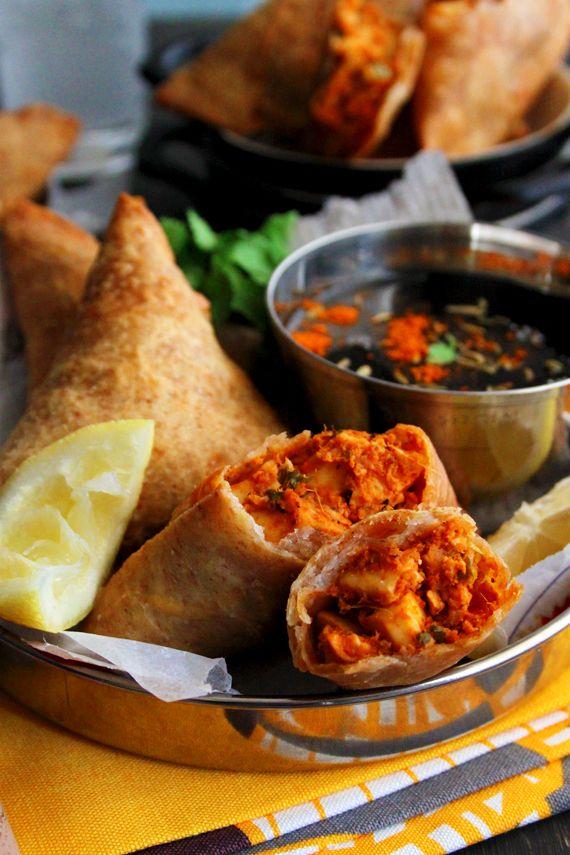 Tandoori paneer samosas filling recipe split in half india forumfinder Images