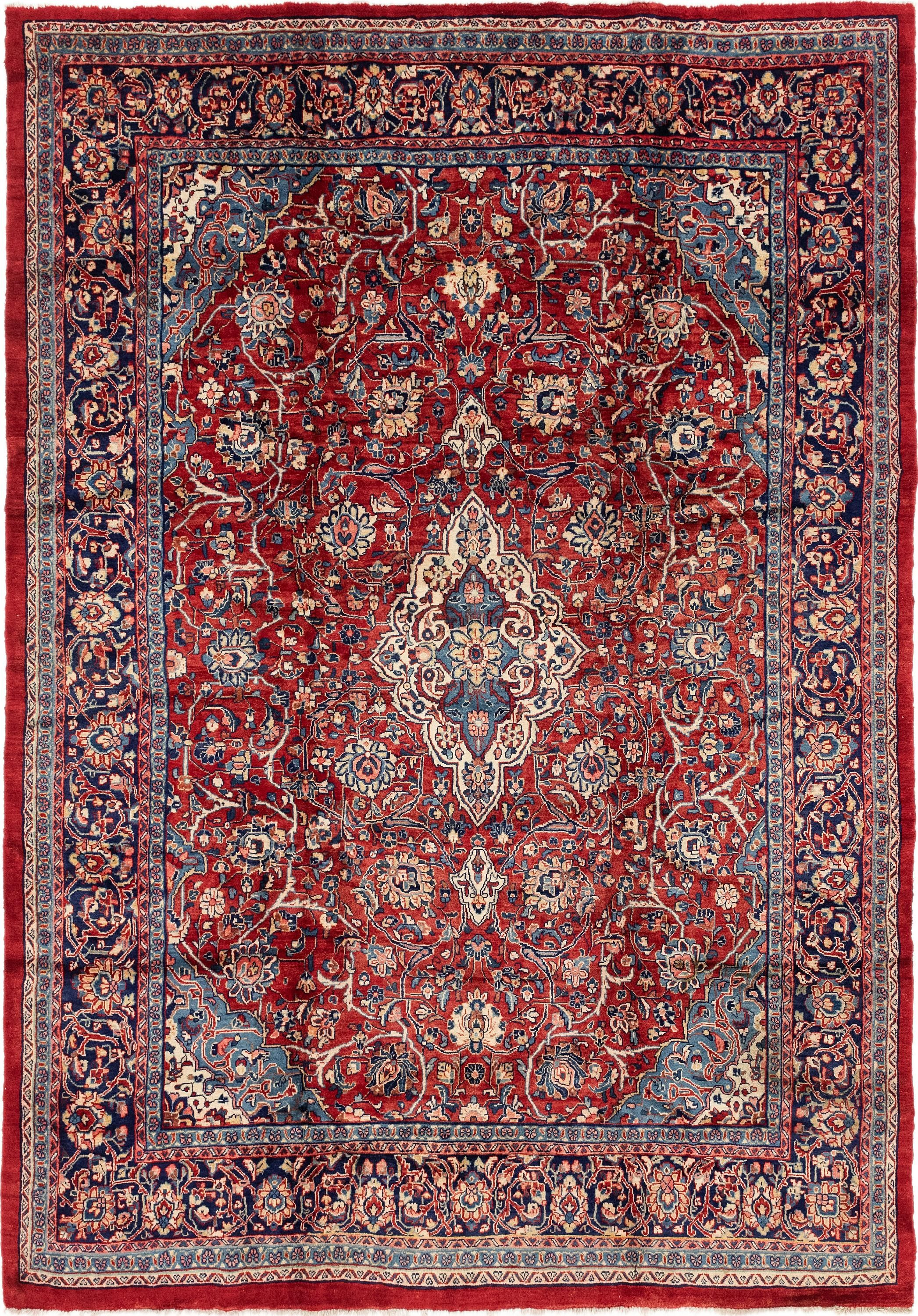 Red 9 2 X 13 Sarough Persian Rug Esalerugs Rugs Large Area Rugs Persian Rug