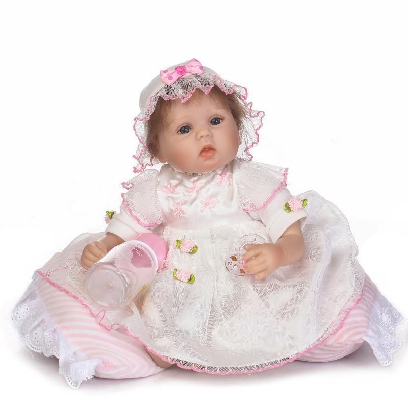67efff61a NPK 16 Inch 40cm Reborn Baby Soft Silicone Doll Handmade Lifelike ...