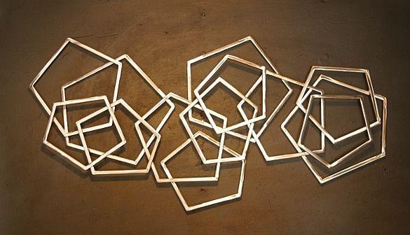 Abstract Metallic Wall Art
