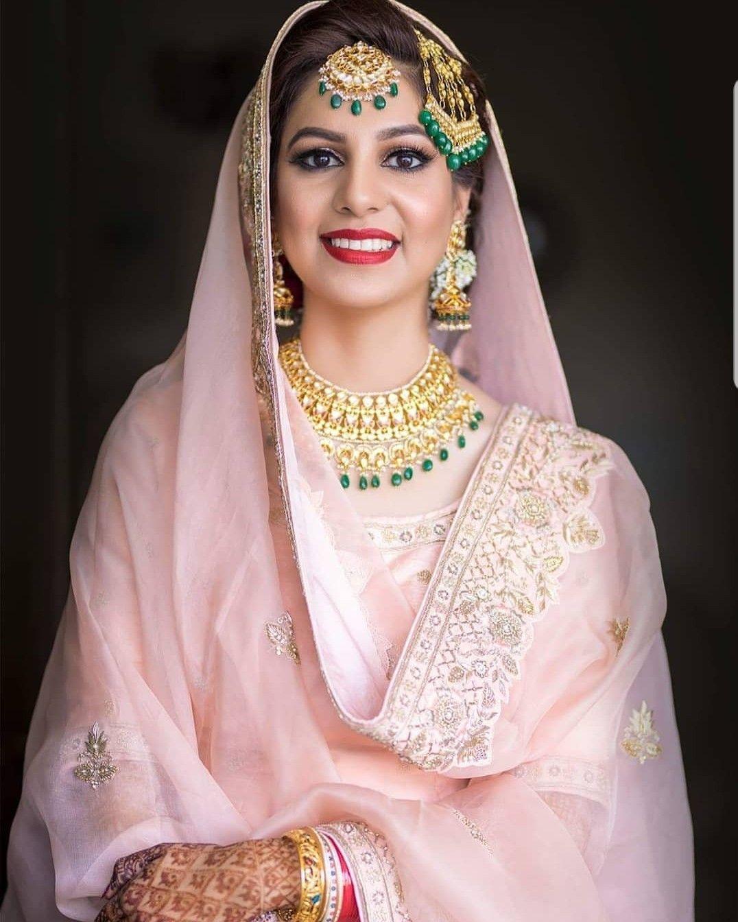 Punjabi Bridal Look Bridal Wear Bridal Dupatta Bridal Looks