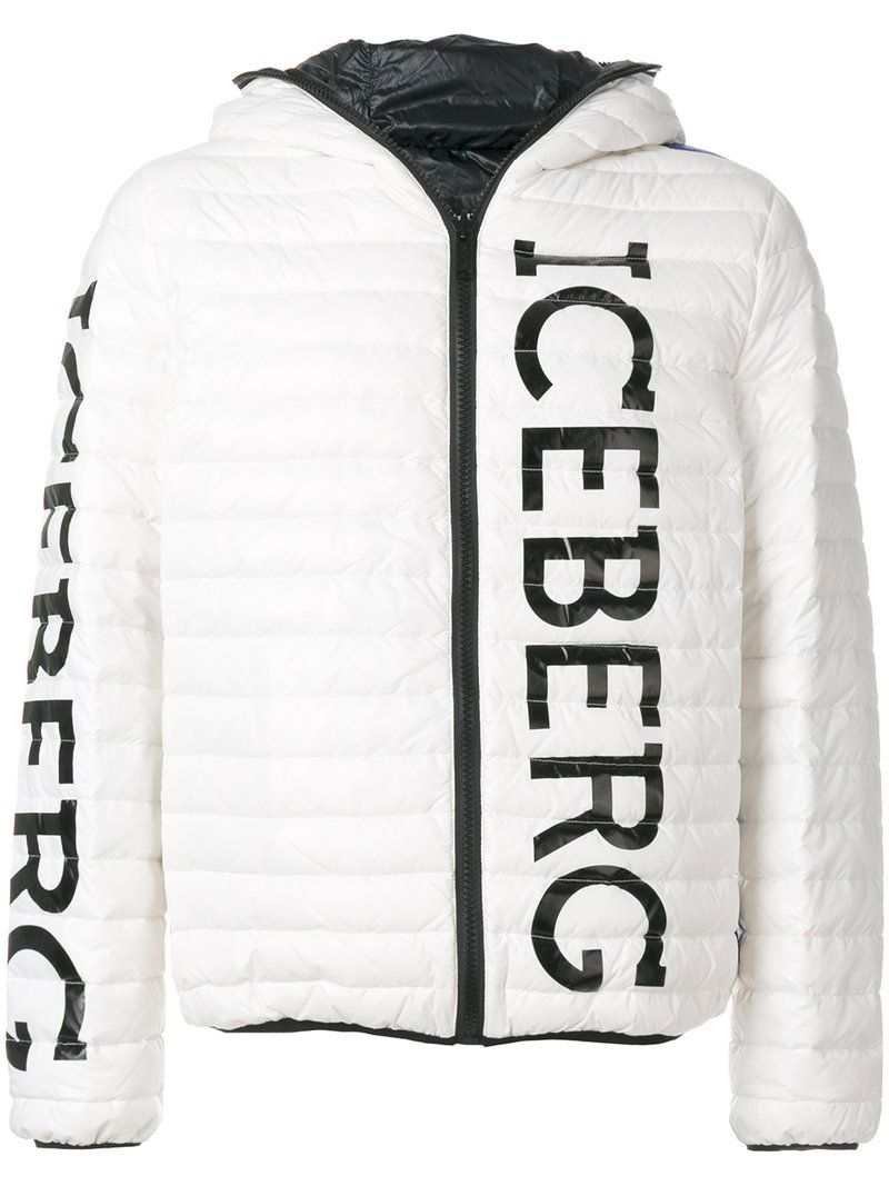 Iceberg logo print puffer jacket Red Pre Order Eastbay Good Selling Online Shop Multi Coloured Clearance 2018 8RWC2k8KMQ