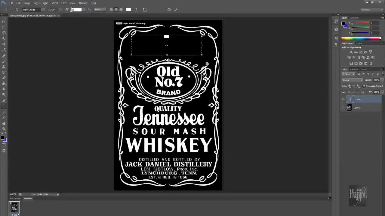 How To Make Jack Daniels Logo In Photoshop Quick Easy Jack Daniels Label Jack Daniels Logo Label Templates