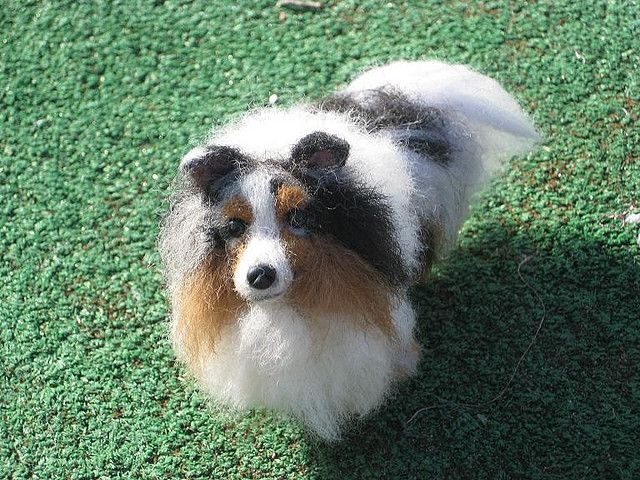 NEEDLE FELTED DOG ~ CUSTOM PET PORTRAIT~SHETLAND SHEEPDOG~SHELTIE~by GOURMET FELTED~SKYE by Gourmet Felted, via Flickr