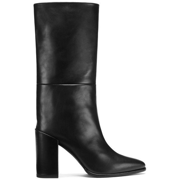 Stuart Weitzman STRAIGHTEN ($700) ❤ liked on Polyvore featuring shoes, boots, black, black shoes, black boots, stuart weitzman shoes, kohl shoes and stuart weitzman boots