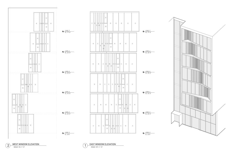 iwamotoscott clads city view garage with a perforated façade