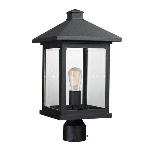 Z Lite Portland Black 19 Inch One Light Post Mount Light 531phbr Bk With Images Post Mount Lighting Post Lights Outdoor Post Lights