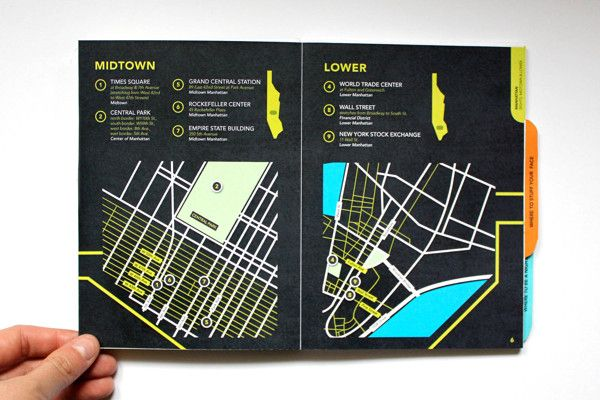 New York Travel Guide by Anastasia Gentry, via Behance #map #layout