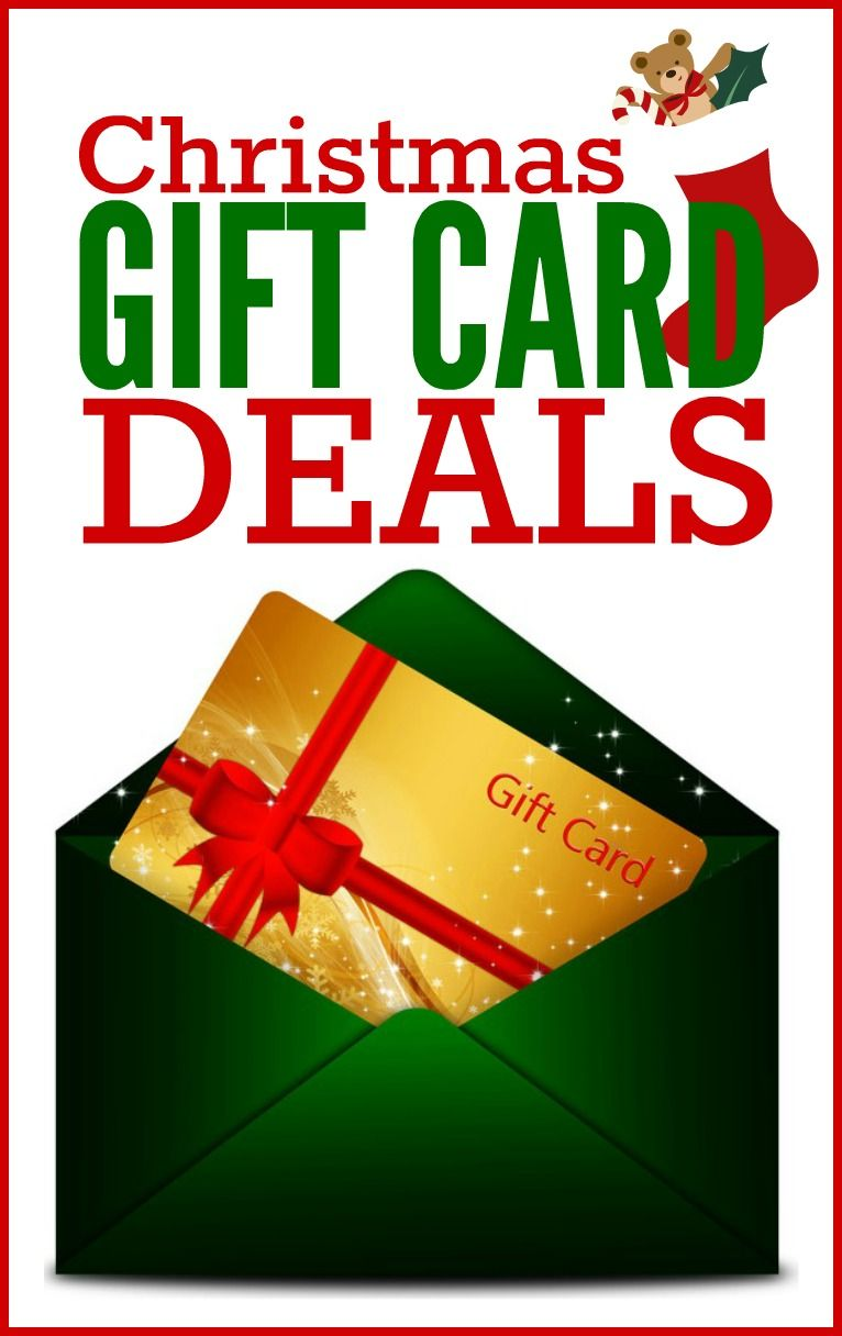 Christmas Gift Card Deals | Gift card deals, Christmas gifts and Gift