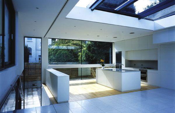Split Roof Design: Split Level Flat Roof Extension