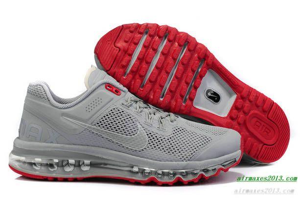 innovative design 35bc9 0980e 2013 Nike Air Maxes Mens Reflective Silver Silver Hyper Red For Sale 555363  006