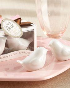 Lovebirds in the Window Ceramic Salt. http://www.bluerainbowdesign.com/WeddingFavorProduct.aspx?ProductID=PR011711170009J0123456789XBRD98100