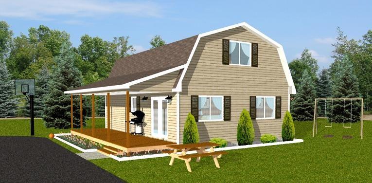 Gambrel Garage Plans Carriage House : Gambrel d g dutch colonial