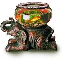 Sitting Elephant Decorative Fish Bowl