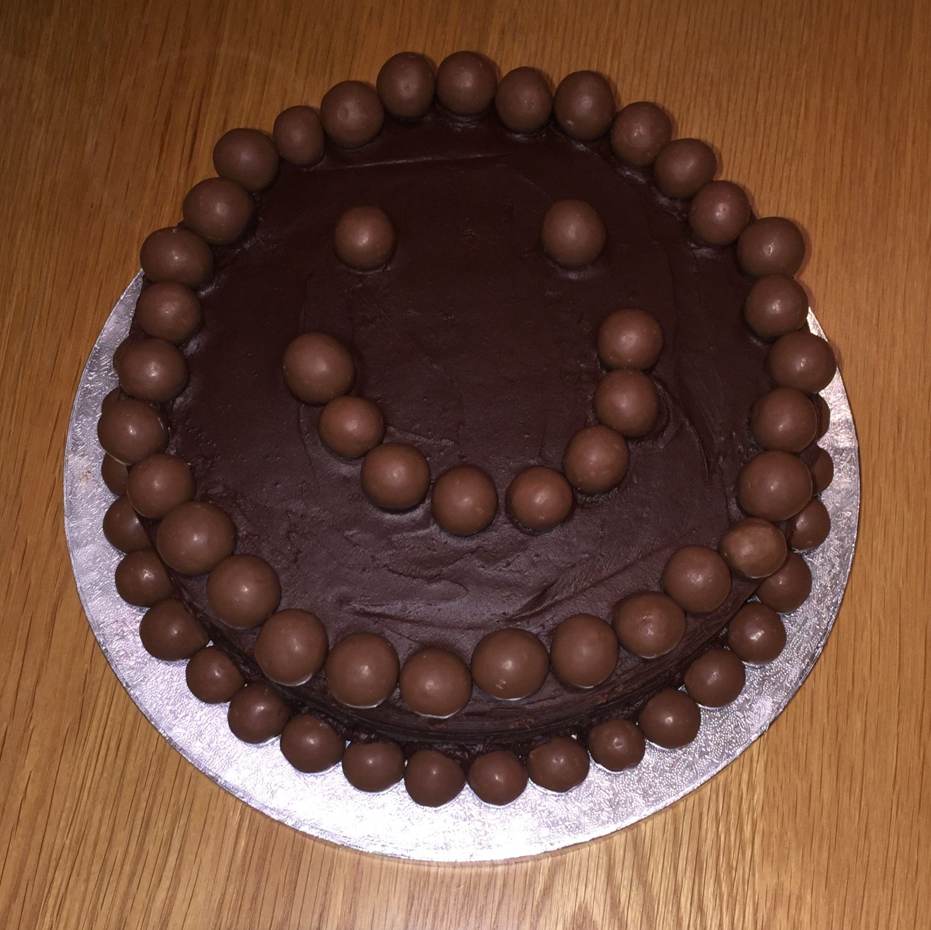 Smiley Chocolate Cake Decorated With Maltesers With Images