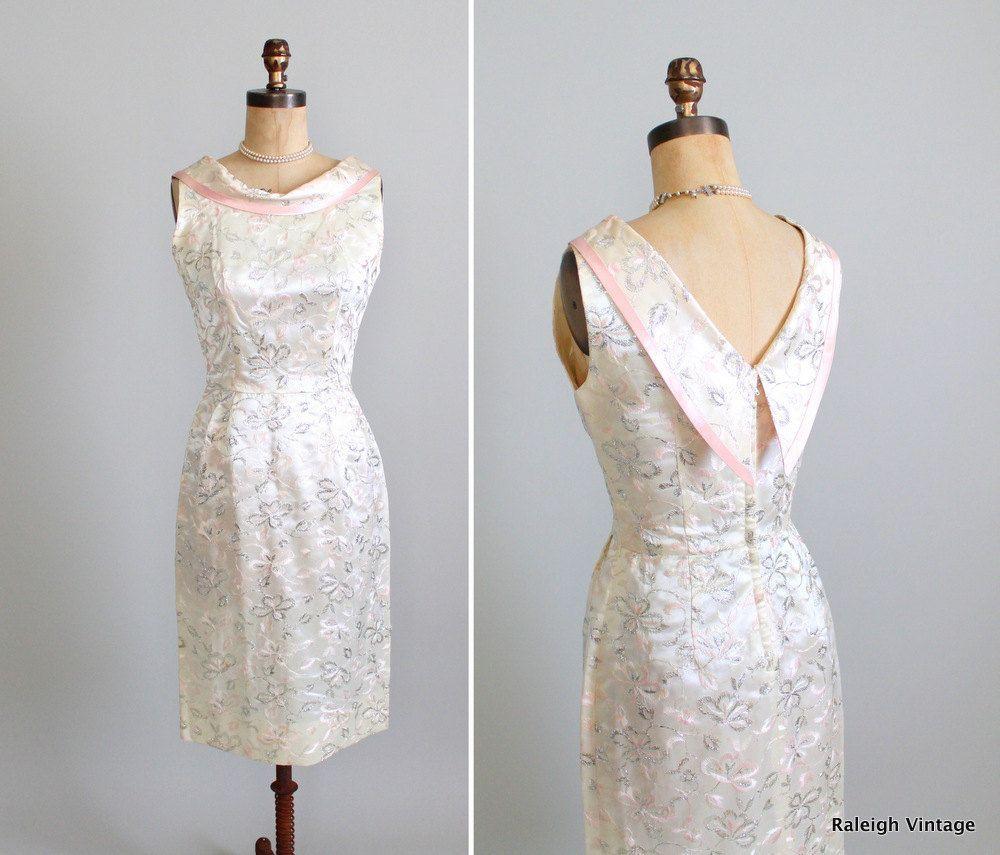 Vintage s dress s s shimmery wiggle cocktail alternative