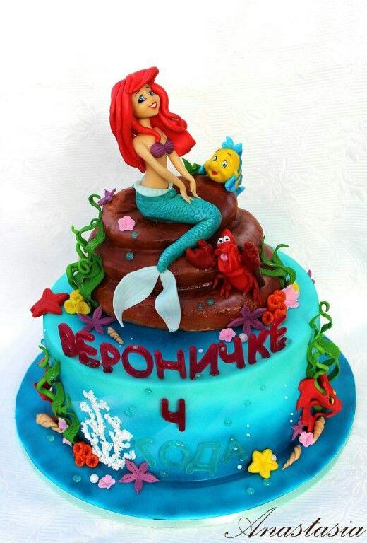 Mermaid Cake Tort Rusalochka Ariel Cake Birthday Cake Desserts