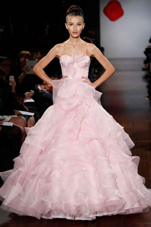 couture pink wedding dress.austin scarlett wedding dress
