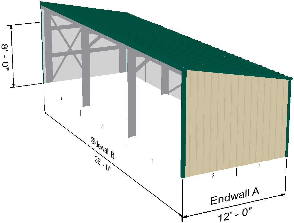 Equipment Shed Extension To Metal Building With Living