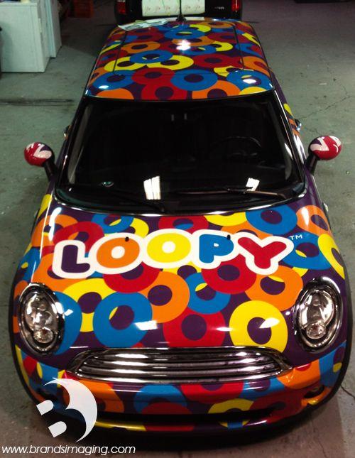 Loopy Mini Cooper wrap. #VehicleWrap #graphics #custom #philly #wraps