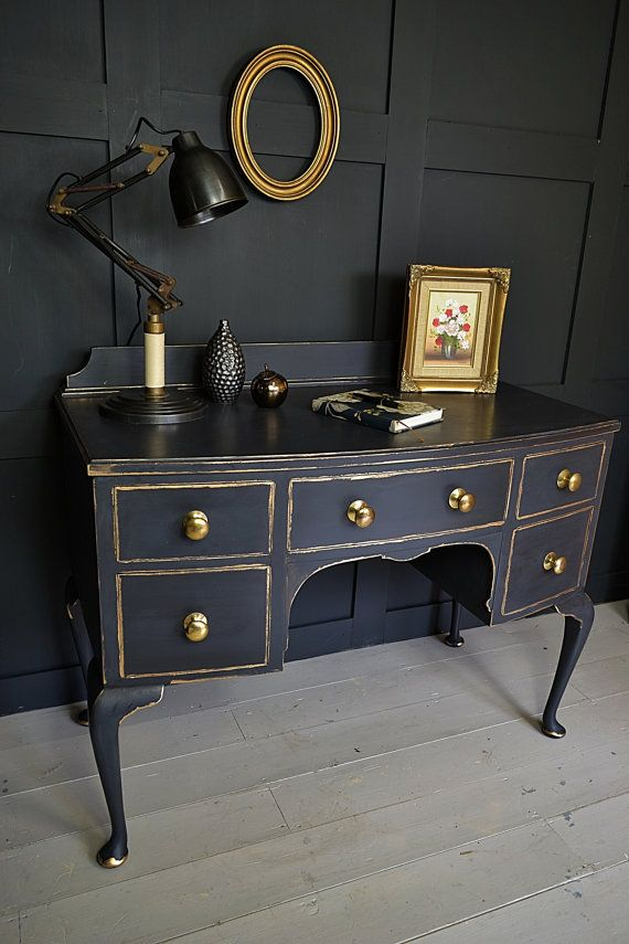 black gold shabby chic desk dressing table by thetreasuretroveuk rh pinterest com