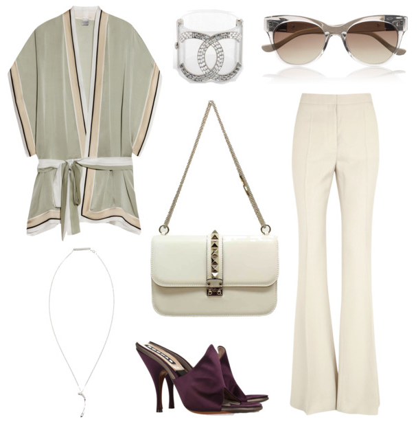 2013 - Chanel cuff, Valentino Vavavoom bag, Stella McCartney Trousers and Carine Gilson kimono