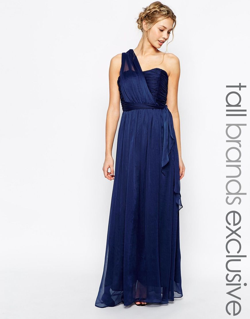 Image of true decadence tall one shoulder maxi dress ขายออกแรวค