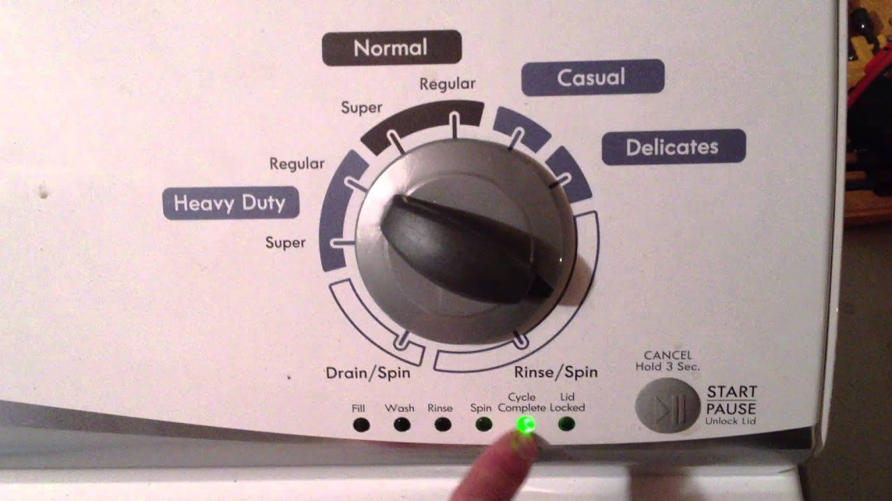 Whirlpool Vertical Modular Washer (VMW): Tech Sheet, Diagnostic Mode