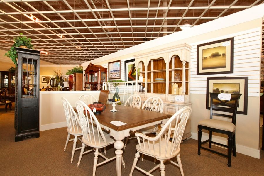White washed dining table chairs and hutch colleen 39 s for Dining room tables las vegas