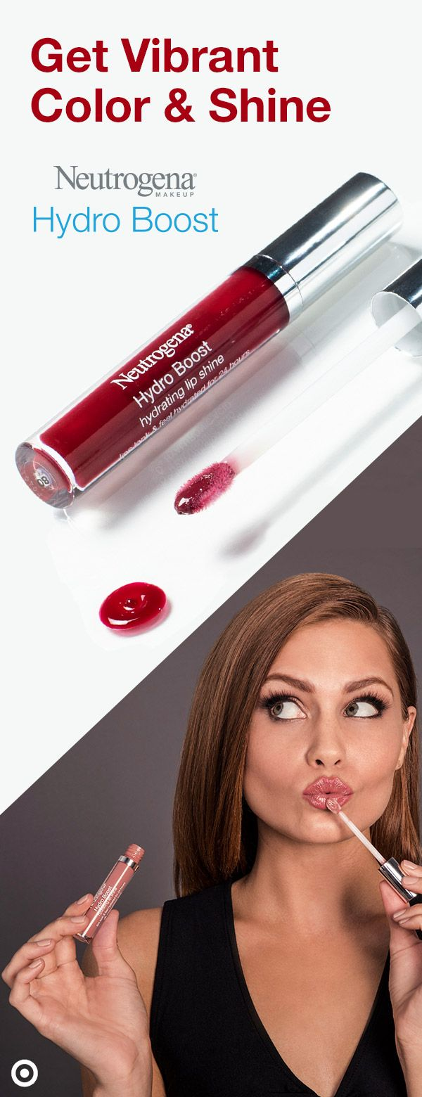 Neutrogena Hydro Boost Hydrating Lip Shine combines the