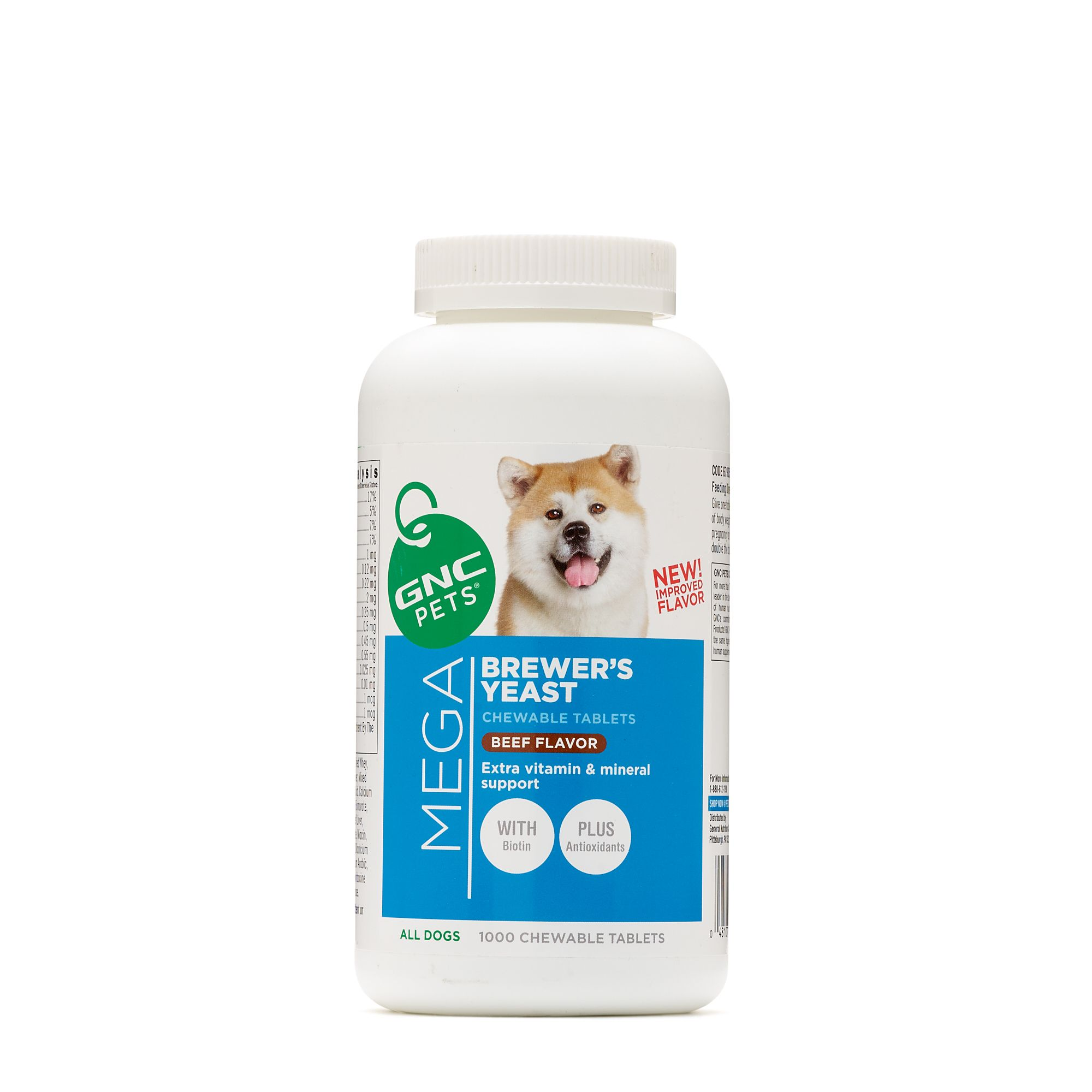 GNC Pets Mega Brewer's Yeast All Dogs Beef Flavor